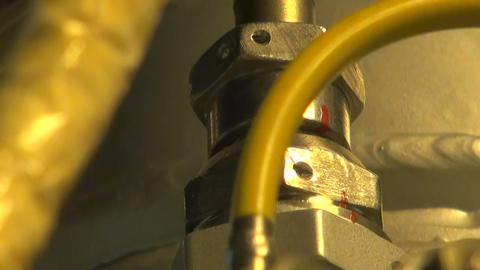 Reactive solid rocket motor Stock Video Footage