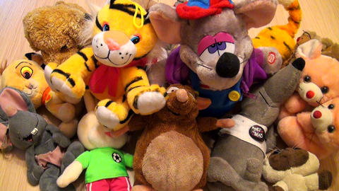Heap of children's toys Stock Video Footage