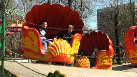Children's merry-go-round Footage