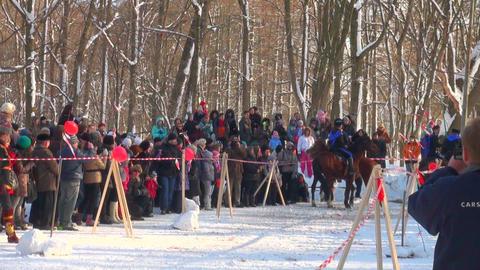 Cossacks on horses Stock Video Footage