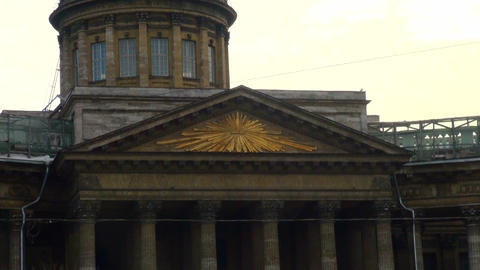 The Kazan cathedral in St. Petersburg Footage