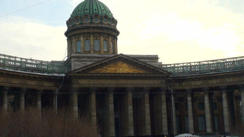 The Kazan cathedral in St. Petersburg Stock Video Footage