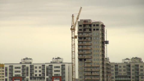 Camera On A Crane stock footage
