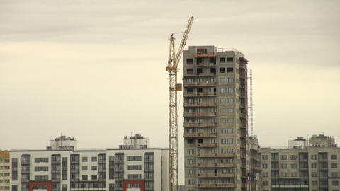 Camera on a crane Stock Video Footage