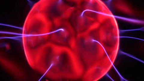 Inside the ball lightning Stock Video Footage
