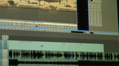 indicator of level of a sound Stock Video Footage