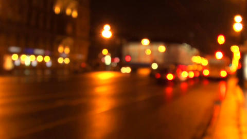 city prospectus at night Stock Video Footage