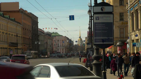 Admiralty and Nevsky prospect Footage