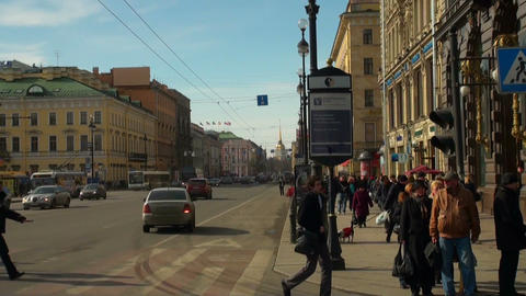 Admiralty and Nevsky prospect Stock Video Footage
