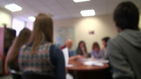 The meeting in the office Stock Video Footage