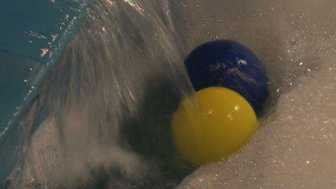 The ball at the jet of water Footage