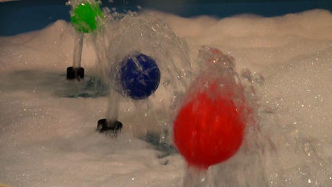 The ball at the jet of water Stock Video Footage