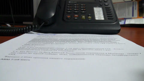 The documents of the phone Stock Video Footage