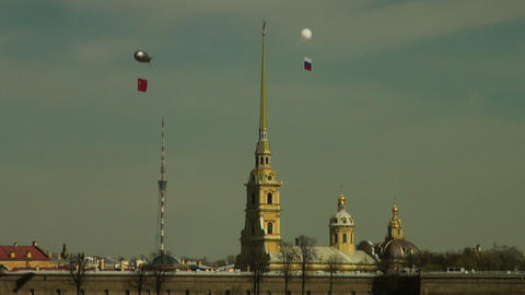 St.Peter and Paul Cathedral Stock Video Footage