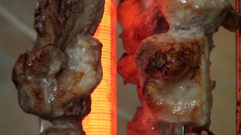 shish kebab Stock Video Footage