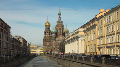 The Saviour on the Spilled Blood Cathedral. Sankt-Petersburg Footage
