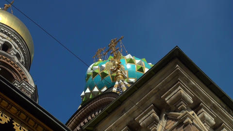 The Saviour on the Spilled Blood Cathedral. Sankt-Petersburg Stock Video Footage