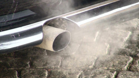 Exhaust pipe machine Stock Video Footage