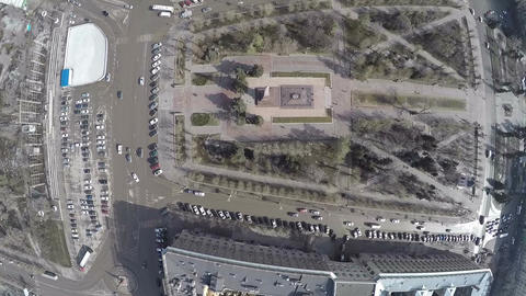 Square of Fallen Soldiers in Volgograd, aerial view Footage