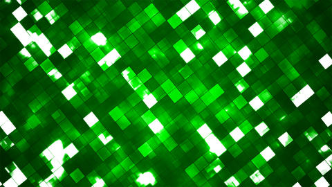 Broadcast Twinkling Fire Light Diamonds, Green, Abstract, Loopable, 4K Animation