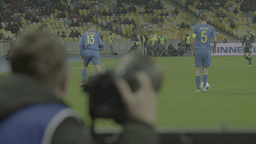 The photographer is watching a football match Footage
