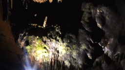 Tourist Shooting Cave Sculptures Footage