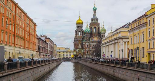 Savior on the blood Church. Saint-Petersburg Footage