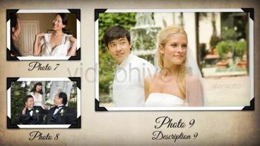 Wedding Album stock footage
