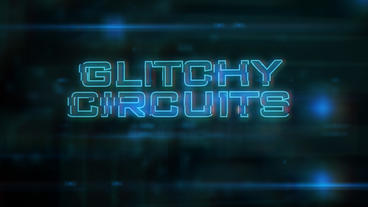 Glitchy Circuits - Glitch/Circuits Logo Opener Plantilla de After Effects