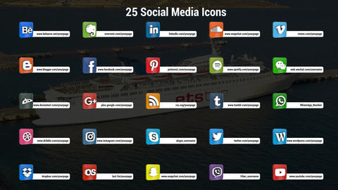 3DSocialicon After Effects Template