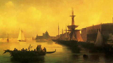 3D Animated Classical Painting HD - Ivan Aivazovsky - Venice 1842 Animation