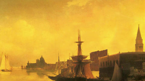 3D Animated Classical Painting HD - Ivan Aivazovsky -... Stock Video Footage