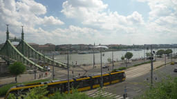 Budapest tram public transport 2 Footage
