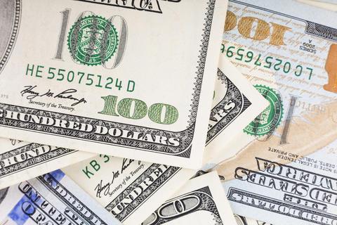 Dollars USA. 100 dollar bills. Money concept. financial concept. money Photo