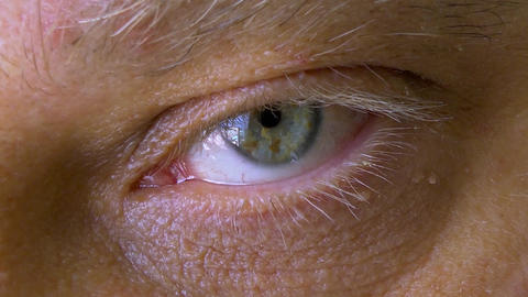 Close-up of a Mans Eye Stock Video Footage