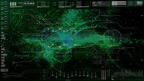 Futuristic User Interface Head Up Display Animation