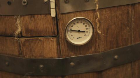 cedar barrel in spa salon indoors. close-up Live Action