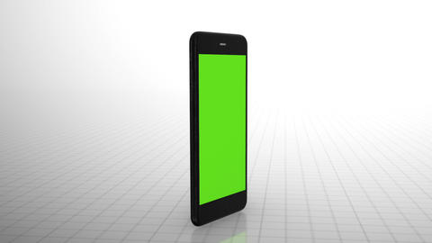 Cell phone with green screen Animation