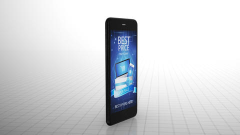 Cell phone with the inscription Big Sale. Special offer, hot sale, best price Animation