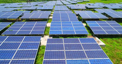 aerial shot of solar panels Live影片