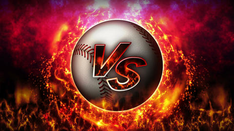 Sports Fight Backgrounds, Baseball, Loop Animation Animation