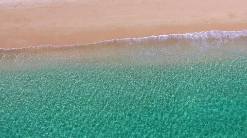 Aerial view of beach kenting national park Taiwan Live影片