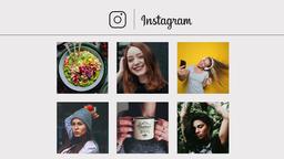 Instagram Slideshow Premiere Proテンプレート