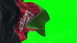 4K Flag of Afghanistan - Seamless Looping Animation