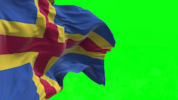 4K Flag of Aland Islands - Seamless Looping Animation