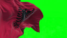 4K Flag of Albania - Seamless Looping Animation