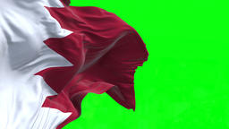 4K Flag of Bahrain - Seamless Looping Animation