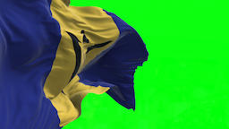 4K Flag of Barbados - Seamless Looping Animation