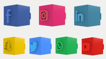 3D Social Media Lower Thirds Plantilla de After Effects