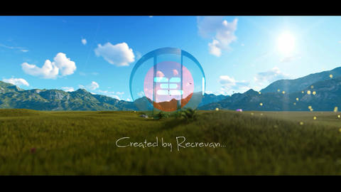 Nature Glass Logo reveal After Effects Template